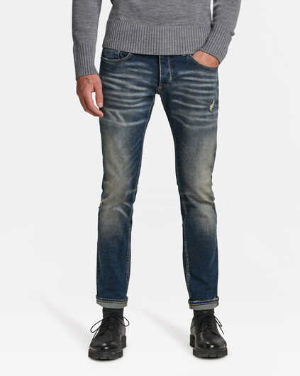 HERREN-SEVEDGE-JEANS AUS COMFORTSTRETCH-DENIM Blau