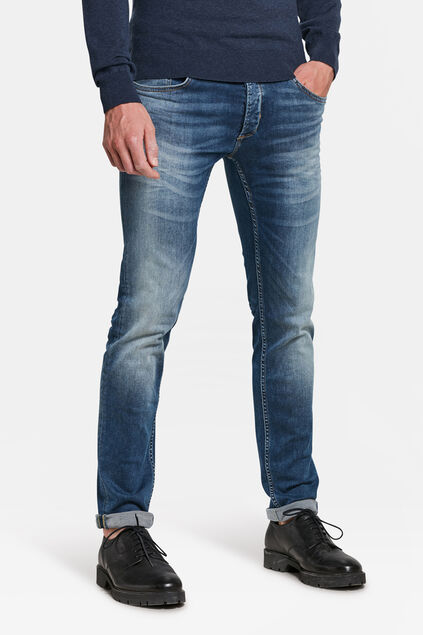 JEANS SLIM TAPERED SUPER STRETCH HOMME Bleu