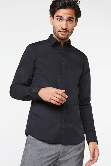 Chemise regular fit stretch homme Noir