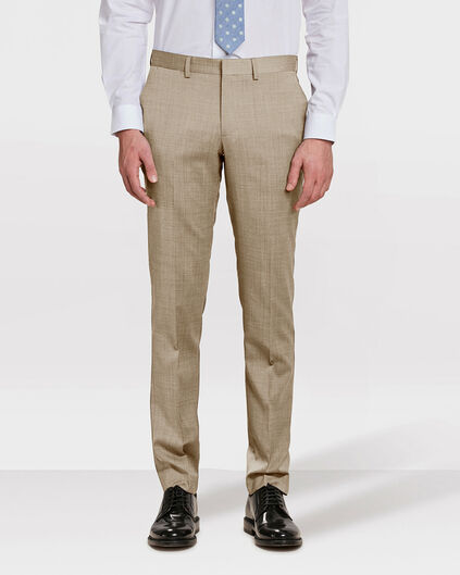 PANTALON SLIM FIT COLOMBO HOMME Brun clair
