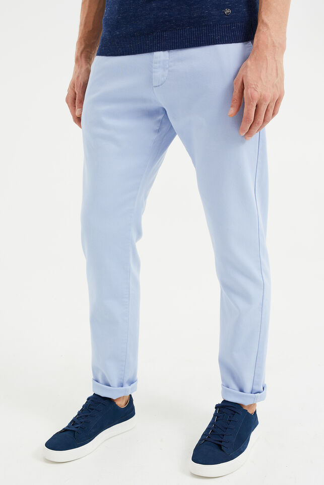 Chino slim fit homme Bleu