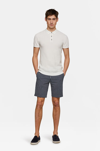 Herren-Slim-Fit-Shorts Stuart Blau