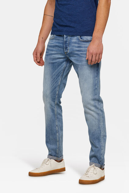 Jeans jog denim slim tapered homme Bleu eclair