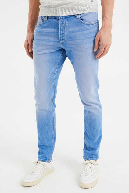 Jeans slim fit stretch confort homme Bleu vif
