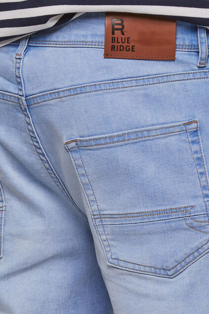 Herren-Regular-Fit-Shorts Pastellblau
