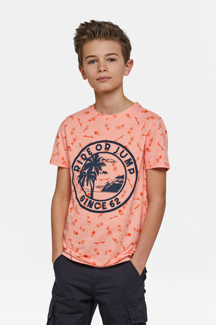 T-shirt ride or jump garçon Orange
