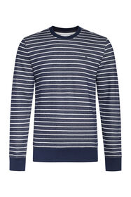 Sweat-shirt striped homme_Sweat-shirt striped homme, Bleu marine
