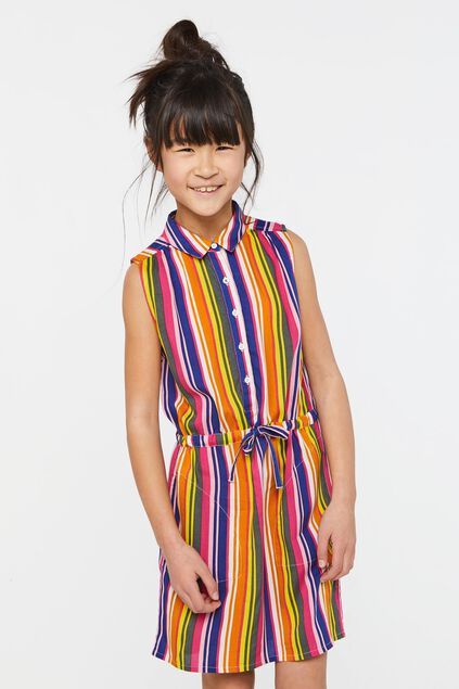 Robe sans manches fille Multicolore