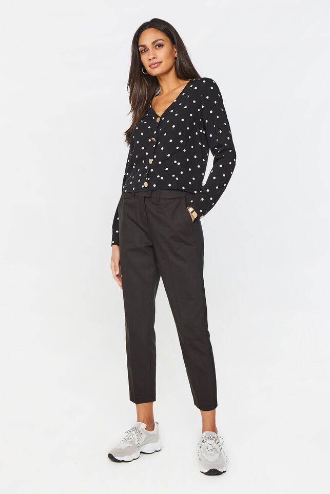 Damen-Slim-Fit-Chinos Schwarz