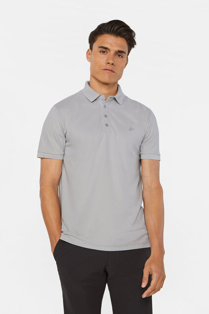 Hybrid polo slim fit homme Gris clair