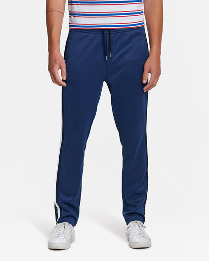 PANTALON DE JOGGING SKINNY TAPERED SPORTY STRIPE HOMME Bleu marine