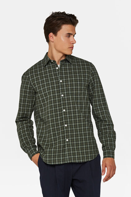 Chemise relaxed fit à carreaux homme Vert armee