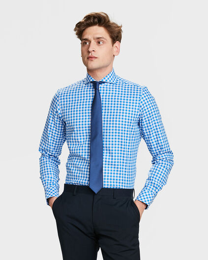 CHEMISE SLIM FIT CHECKED HOMME Bleu