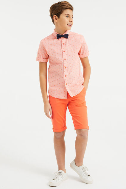 Short chino skinny fit garçon Orange