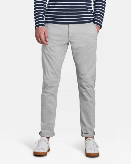 CHINO SLIM TAPERED HOMME Gris clair