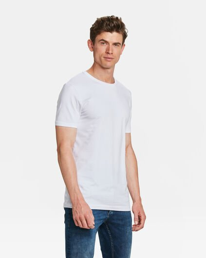 HERREN TALL FIT T-SHIRT 2ER-PACK Weiß