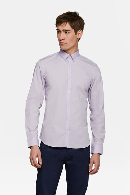 CHEMISE SLIM FIT STRETCH HOMME Lavande