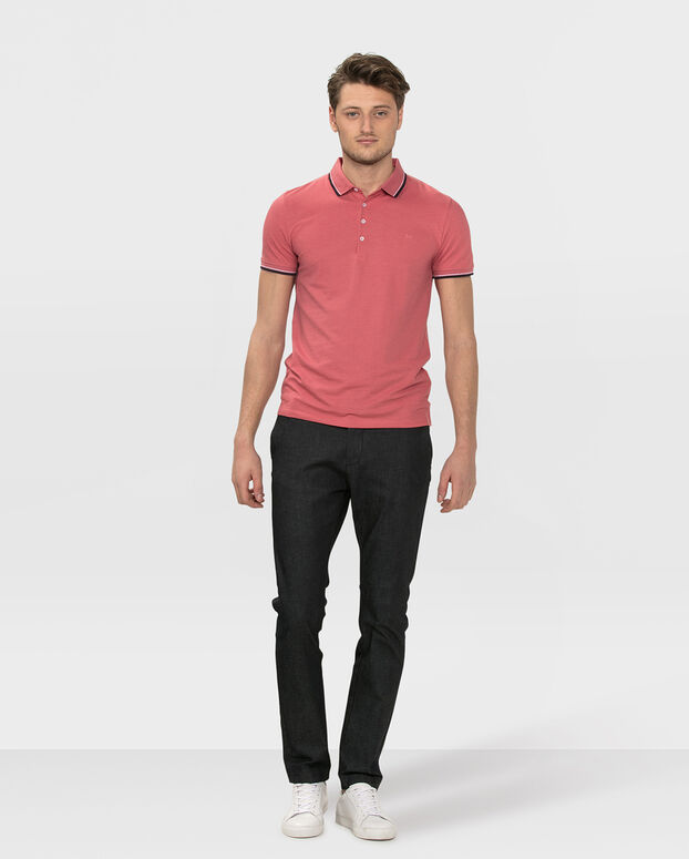 POLO STRETCH HOMME Rouge eclair