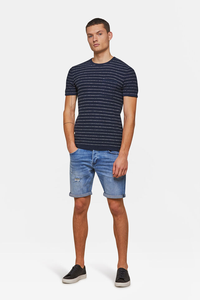 Short jog denim regular fit homme Bleu eclair