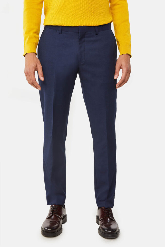 Pantalon regular fit à fine structure Tom homme Bleu foncé