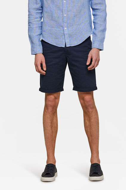 Bermuda regular fit chino homme Bleu marine