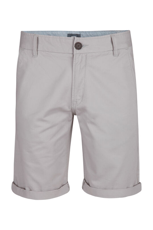 Bermuda regular fit chino homme Gris clair