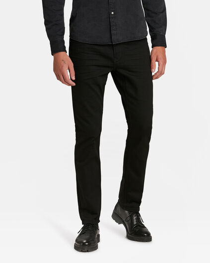 REGULAR STRAIGHT ORGANIC COTTON JEANS HOMME Noir