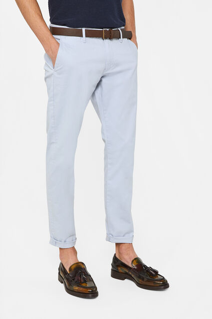 Chino slim fit homme Bleu eclair