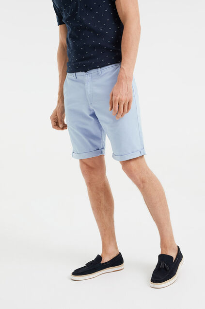 Short chino slim fit homme Bleu eclair