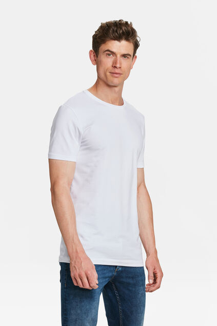 T-shirt tall fit homme, pack de 2 Blanc