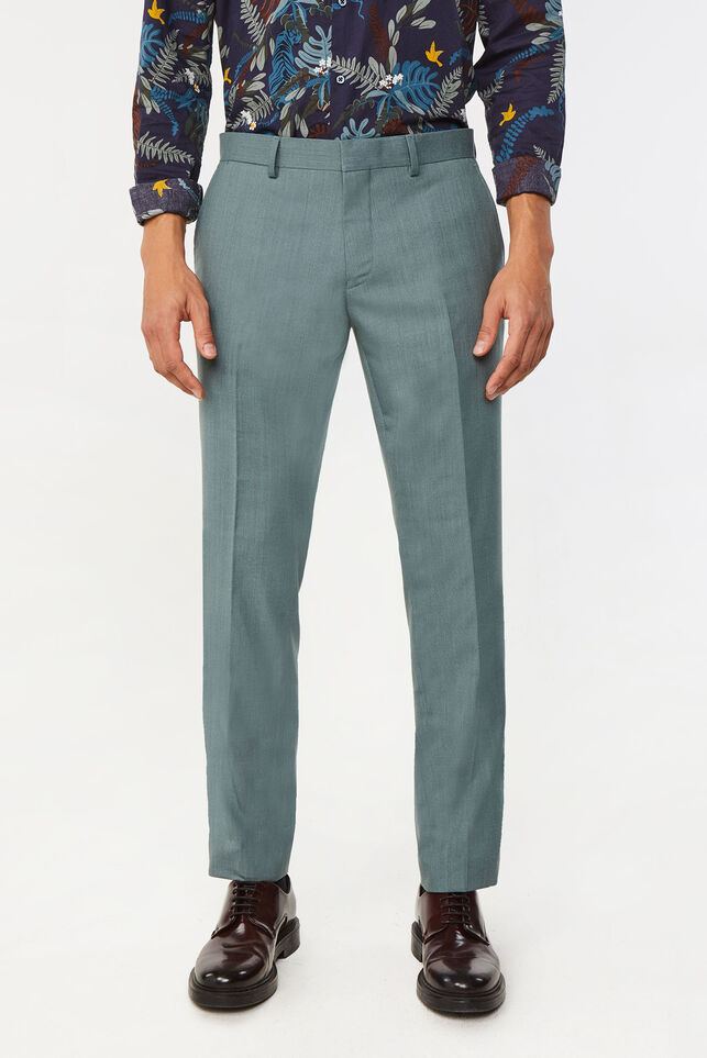 Pantalon regular fit stretch Dali homme Vert gris