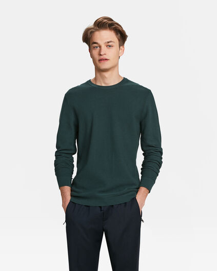 PULL STRUCTURE KNIT HOMME Vert mousse