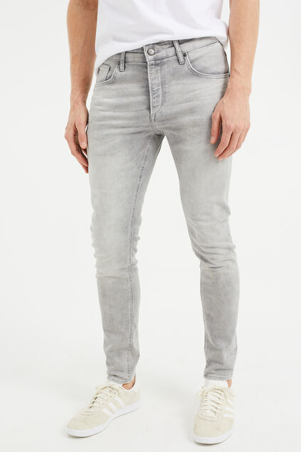 Jeans skinny fit homme Gris