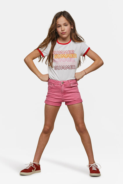 Short skinny fit fille Rose