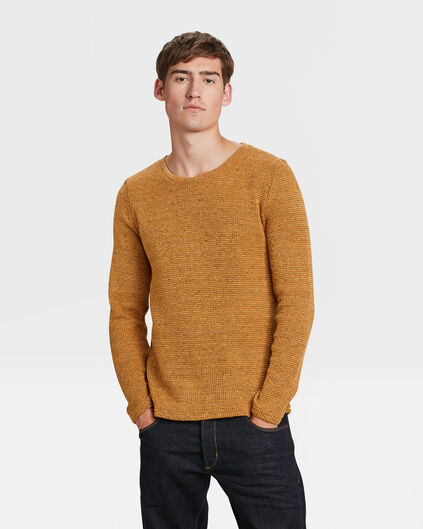 PULL STRUCTURE HOMME Jaune moutarde