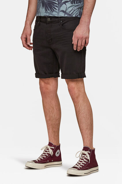 Short denim regular fit homme Noir