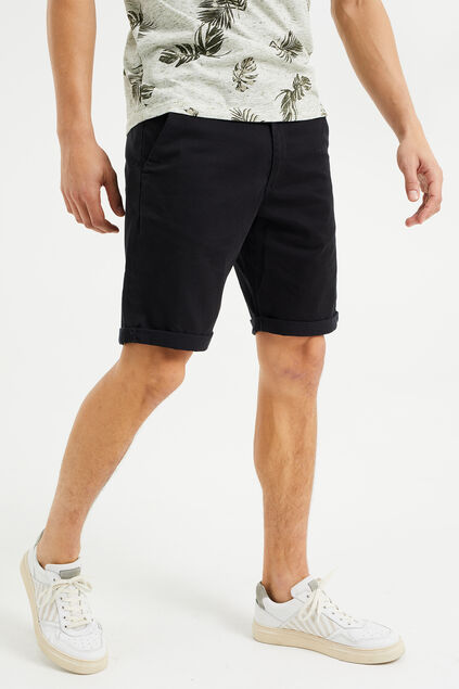 Short chino slim fit homme Noir
