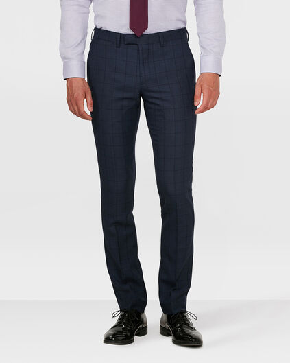 HERREN-SLIM-FIT-ANZUGHOSE BLACKBURN Blau