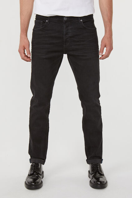 Jeans skinny tapared super stretched homme Noir
