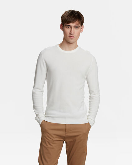 PULL STRUCTURE KNIT HOMME Blanc