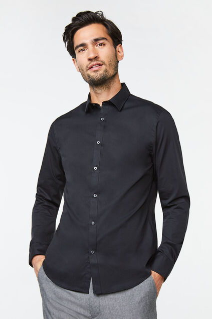 CHEMISE SLIM FIT STRETCH HOMME Noir