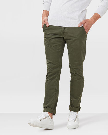 CHINO SLIM FIT CASUAL HOMME Vert foncé