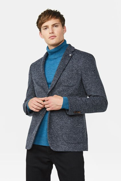 Blazer slim fit Ross homme Bleu gris