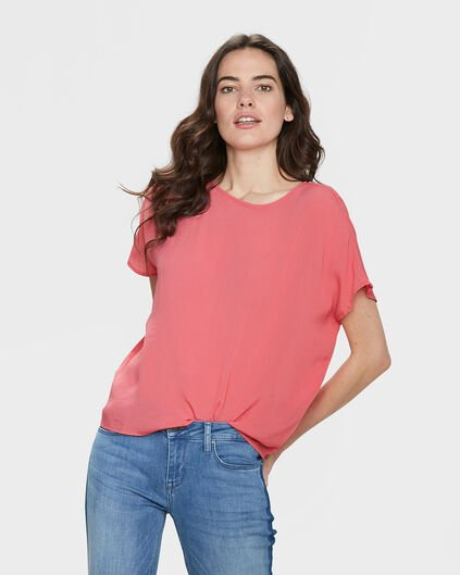 TOP SOLID BOXY FIT FEMME Rose