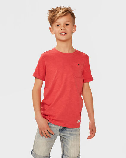 T-SHIRT ONE POCKET GARÇON Rouge