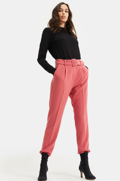 Damenhose mit hoher Taille Rosa
