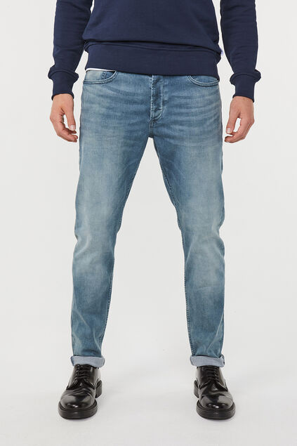 Jeans skinny tapered super stretch homme Bleu gris