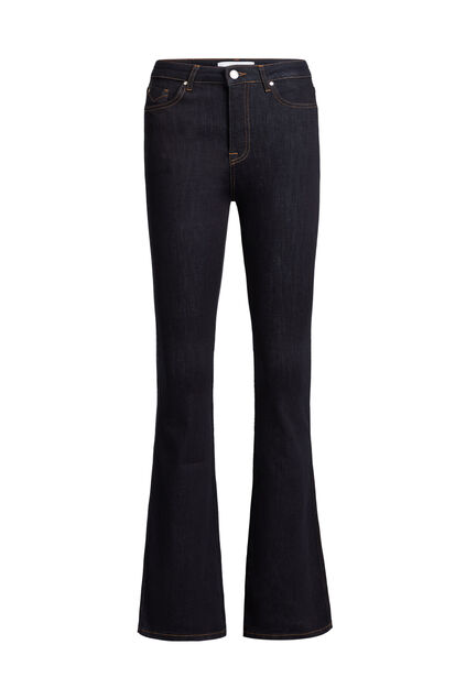 Jeans stretch high raised flared femme Bleu foncé