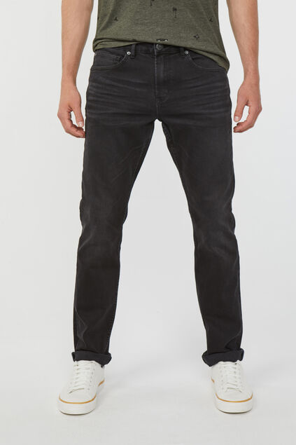 Jeans Regular straight stretch confort homme Noir