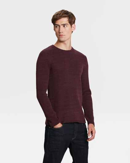 PULL STRUCTURE HOMME Aubergine